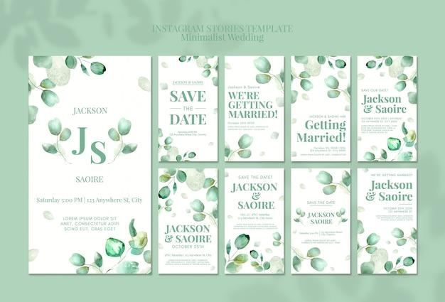 Минималистские свадебные истории в instagram