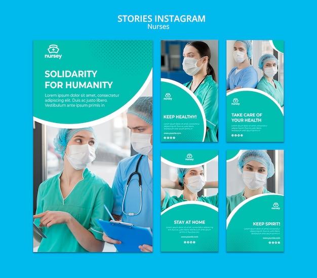 ヘルスケアのコンセプトinstagramストーリー