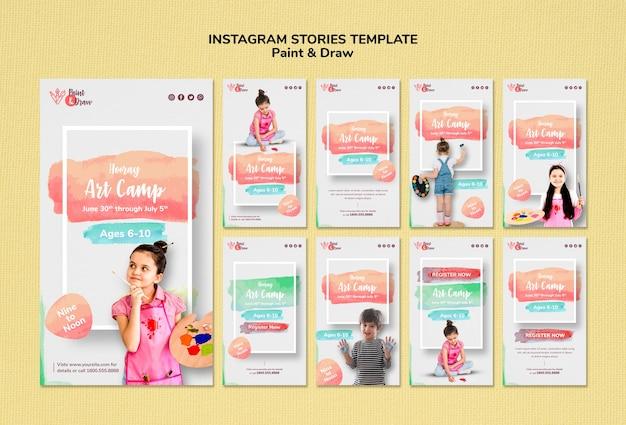 Нарисуйте шаблон истории instagram