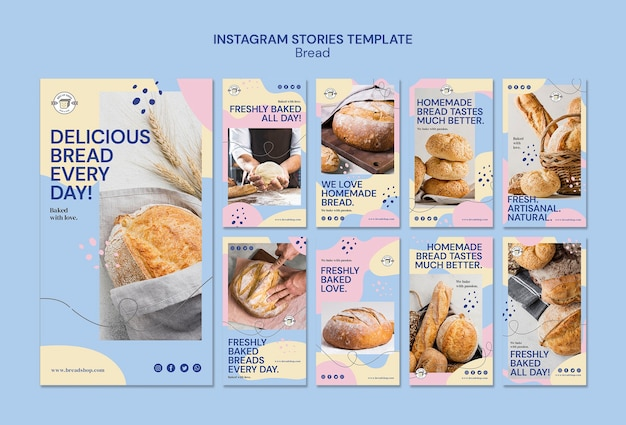 Instagram истории с хлебом
