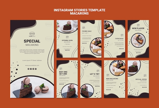 Вкусные истории с макаронами в instagram