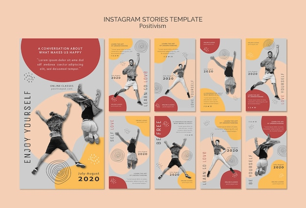 Шаблон рассказов позитивизма в instagram