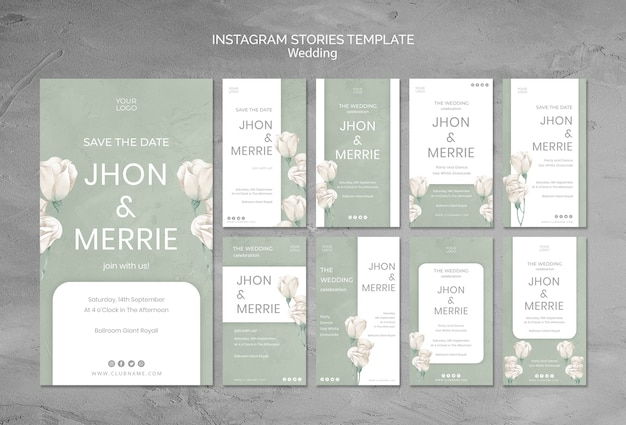 結婚式のinstagramストーリーテンプレート