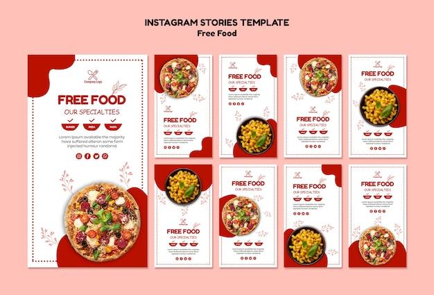 Бесплатные истории еды instagram