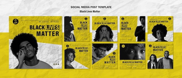 Коллекция постов в instagram для черных жизней