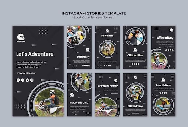 Спортивная концепция instagram истории шаблонов
