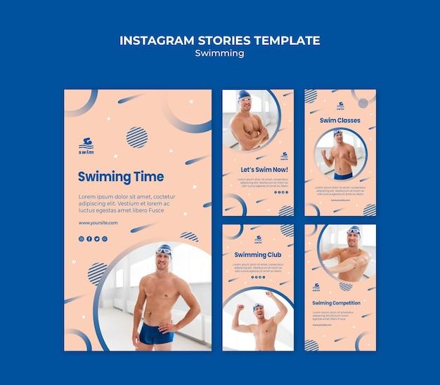 Шаблон истории плавательный instagram