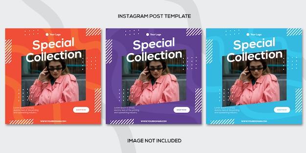 ファッション販売instagram投稿テンプレートコレクション