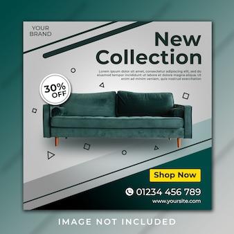 新しいコレクション家具instagramの投稿テンプレート