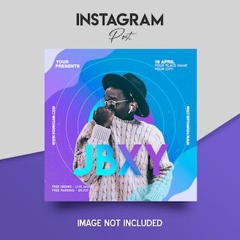 Шаблон поста в instagram