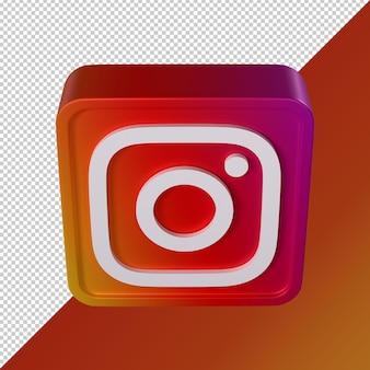 Instagramtransparent 3d square shaped social media logo
