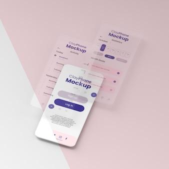 전화 디스플레이의 인터페이스 모형