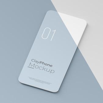 전화 화면의 인터페이스 모형