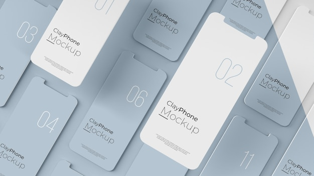 Interface mock-up on phone display