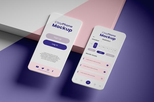 Mock-up dell'interfaccia sul display del telefono