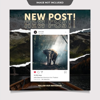 Interface template for instagram post