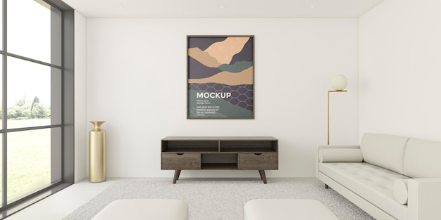 Assortimento interno con cornice mock-up