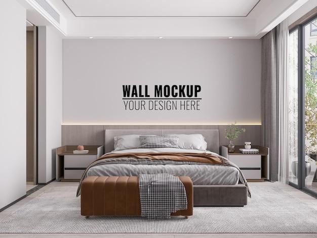 인테리어 침실 벽 모형