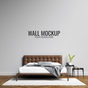 Interior bedroom wall  mockup