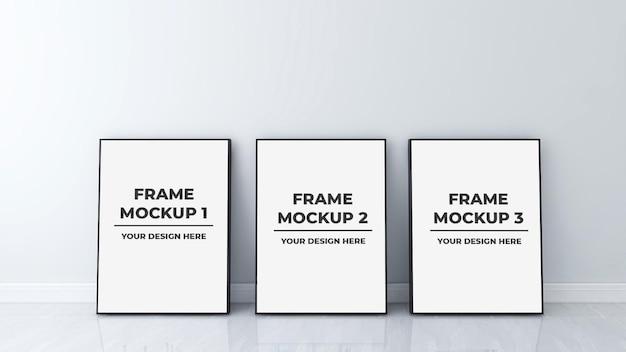 Interior blank photo frame mockup design