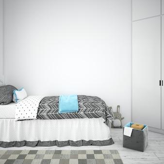 인테리어 어린이 침실 디자인 무료 PSD 파일