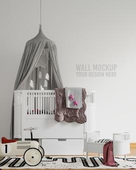 Интерьер детской игровой комнаты, макет стены