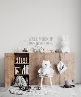 インテリア子供部屋の壁紙モックアップ