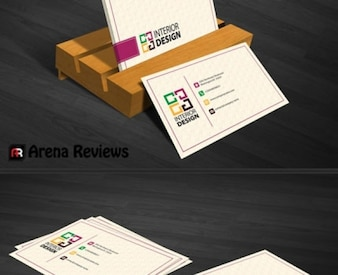 Interior decoration business card template