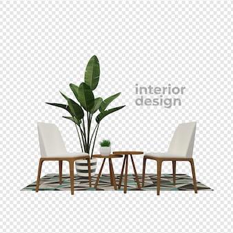 3dレンダリングデザインの室内装飾