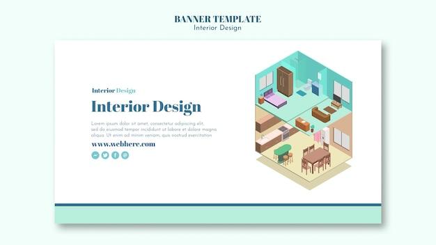 Modello di banner di interior design