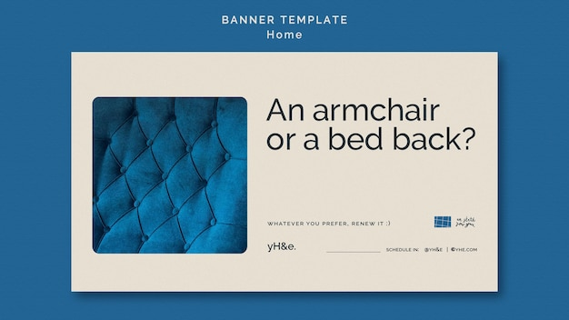 Interior design banner template