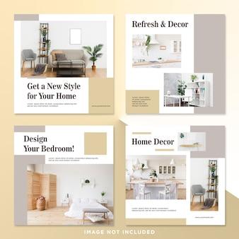 Interior design bundle social media post