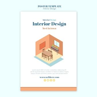 Modello di volantino di interior design