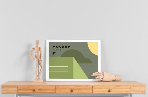 Mock-up di cornice per interni