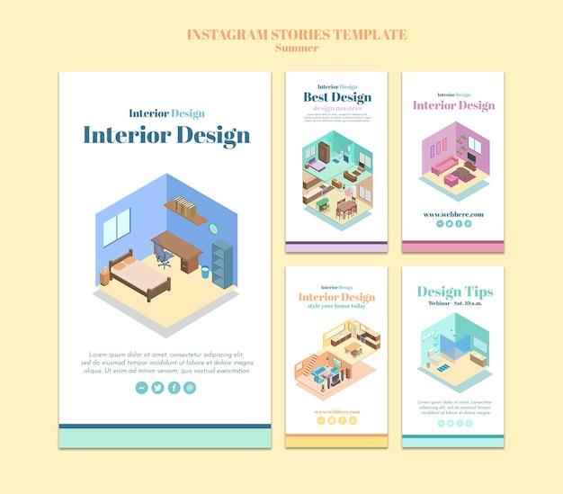 Interior design instagram stories template