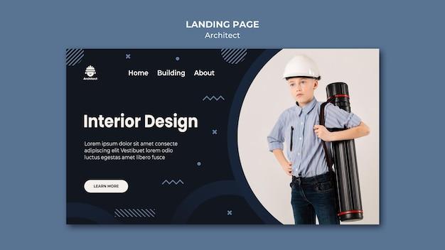 Interior design landing page