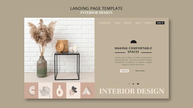 Pagina di destinazione del design degli interni