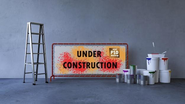 Interior design mockup and construction cocept