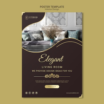 Interior design poster theme