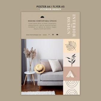 Interior design print template