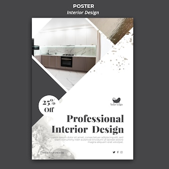 Interior design template poster