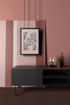 Interior design with positive message