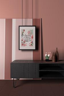 Interior design con messaggio positivo