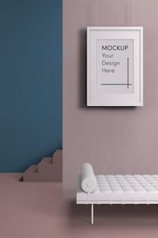 Interior design con divano bianco