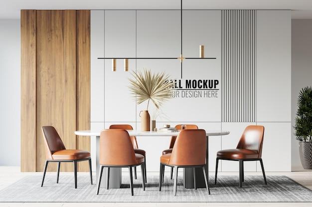 인테리어 식당 벽 모형 무료 PSD 파일