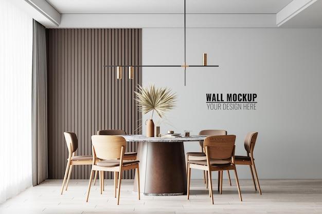 인테리어 식당 벽 모형