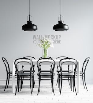 인테리어 식당 벽지 모형