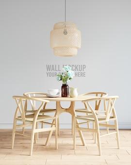 Interior dining room wallpaper mockup