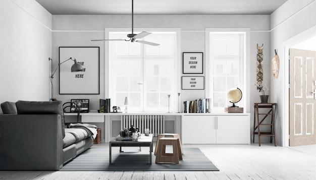 Interior frames mockup