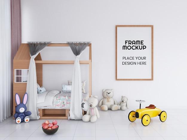 Интерьер детской спальни, фоторамка, макет